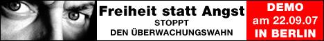 Demo gegen Sicherheits- und Überwachungswahn in Berlin am 22. September 2007…