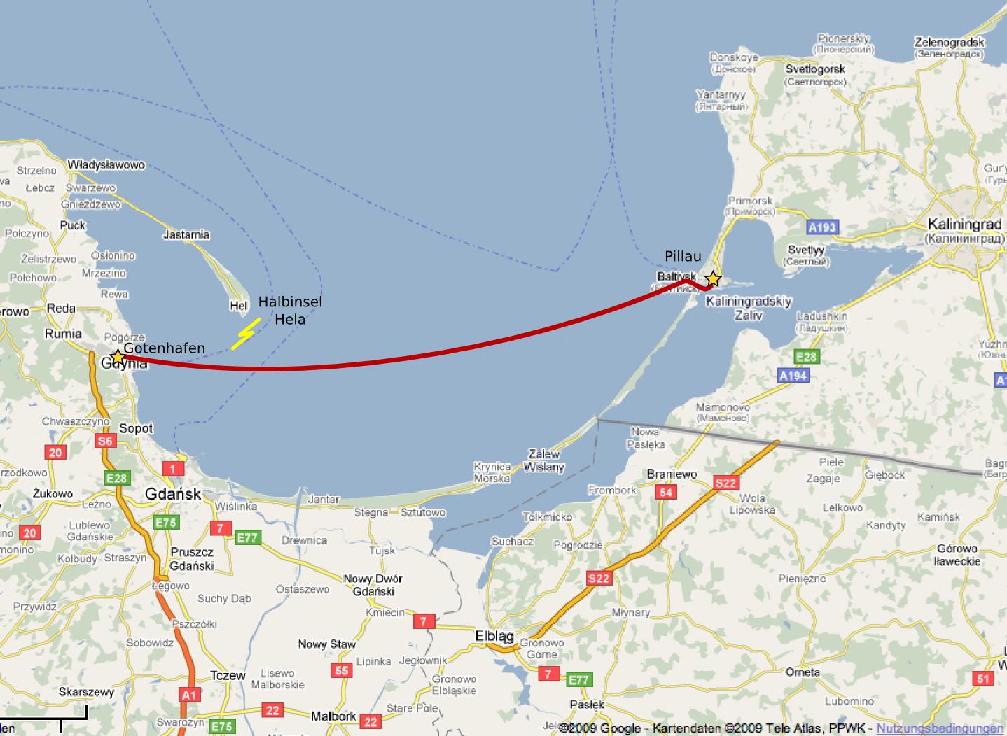 Gotenhafen Karte