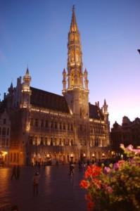 Abendstimmung in Brüssel