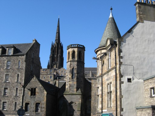 Sonne über Edinburgh
