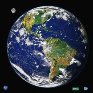 Digital Image of Earth as seen from space