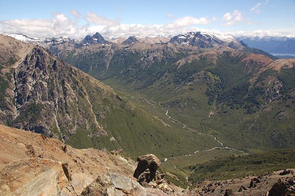 Blick von Cerro Catedral auf den Cerro Negra