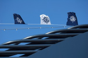 Flaggen der MSC im Wind