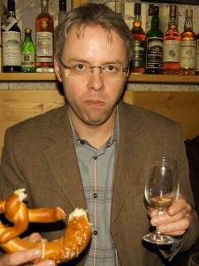 Der Autor erschöpft vom Tasting