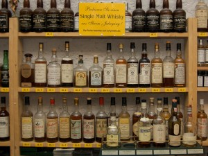 Edle Single Malt Whiskys im Whisky Museum